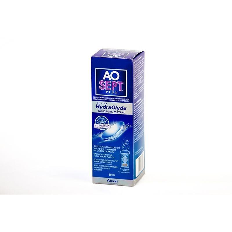 Liquidi Aosept Plus 360ml con portalenti