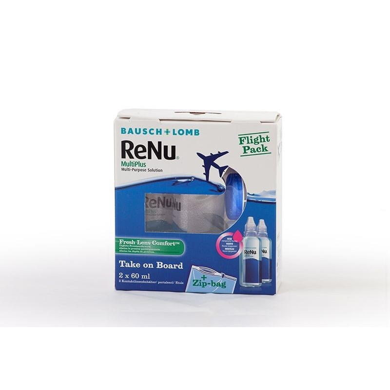 Liquidi ReNu MultiPlus Flight Pack 2x60ml con portalenti