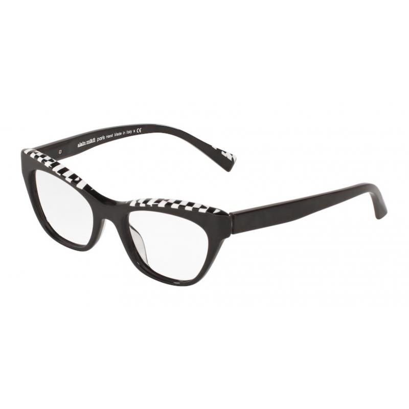 Occhiali da vista ALAIN MIKLI A0 3104 001 51 NOIR BLACK/BLACK WHITE DAMIER