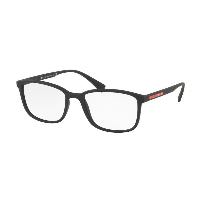 Occhiali da vista PRADA LINEA ROSSA VPS 04I DG0-1O1 55 BLACK RUBBER
