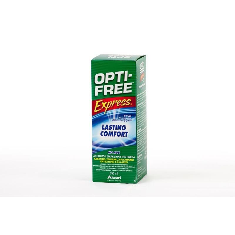 Liquidi OptyFree Express 355 ml con portalenti