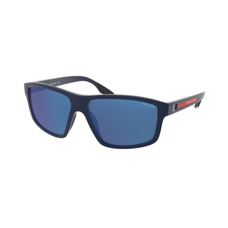 Occhiali da sole PRADA LINEA ROSSA SPS 02X TFY-08H 60 BLUE RUBBER