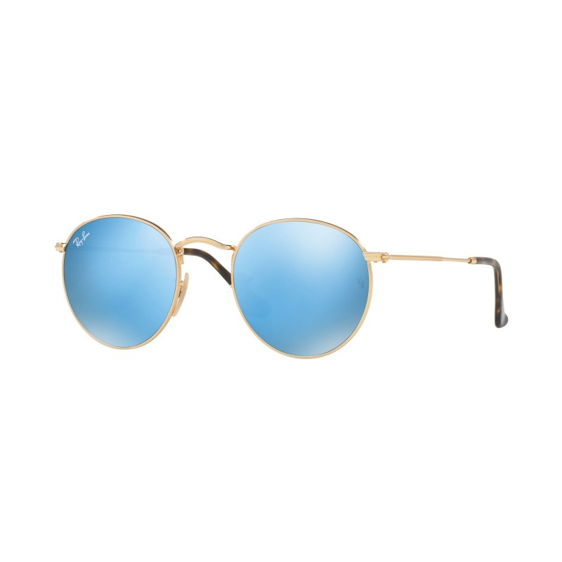 RAY BAN ROUND FLAT RB 3447N 001-9O 50